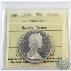 1965 Canada 50-cent ICCS Certified PL-66 Heavy Cameo.