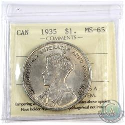 1935 Canada $1 ICCS Certified MS-65.