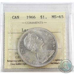 1966 Canada Large Beads $1 ICCS Certified MS-65.