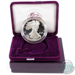 1991 United States Proof 1oz Fine Silver Eagle in all original mint packaging with COA (Tax Exempt).