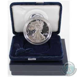 1997 United States Proof 1oz Fine Silver Eagle in all original mint packaging with COA (Tax Exempt).