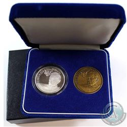 1989 Official Presidential Inaugural Two Medal Set (Tax Exempt). You will receive the solid Bronze m