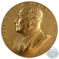 "United States Secretary of the Treasury - George M. Humphrey Medal. Measures 3"" in diameter and desi"