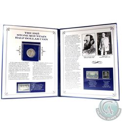 1925 Stone Mountain Half-Dollar Coin & Stamp Set. Comes housed in an informational presentation Fold