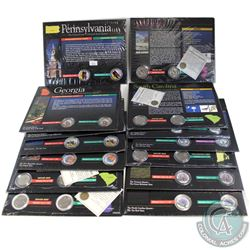 1999-2001 United States Colourized State Quarter & D Mint Mark Collection. You will receive 1999 Pen