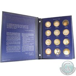 1970 The Franklin Mint 'America in Space' 24-coin First Edition Sterling Silver Medal Proof Set. Fea