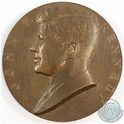 """1961 Inaugurated President John F. Kennedy Medal. Measures 3"""" in diameter with a weight of 214.56 gr"""