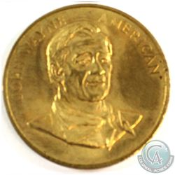 1979 Commemorative Golden Edition John Wayne Medal issued in Philadelphia by the Film Corp of Americ