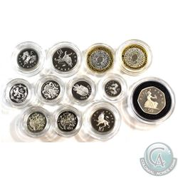 1983-1998 United Kingdom Silver Proof Coin Collection. You will receive 1983 1-Pound Piedfort, 1988