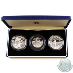 1994 Royal Mint 50th Anniv. Allied Invasion of Europe 3-Coin Silver Proof Collection. Set includes t