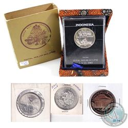Estate Lot - World Silver Coin/Medal Collection. You will receive 1983 Indonesia Solar Eclipse Proof