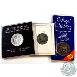 1981 Prince Charles & Lady Diana Coin & Medallion Collection. You will receive a Royal Mint 1-Crown,