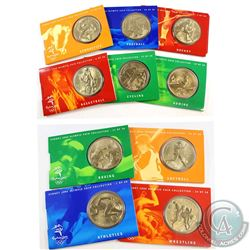 2000 Australia $5 Sydney Olympic Coin Collection. You will receive Rowing, Boxing, Softball, Wrestli