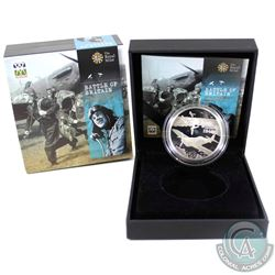 2010 United Kingdom 5-Pound 70th Anniv. Of the Battle of Britain Sterling Silver Proof. Please note