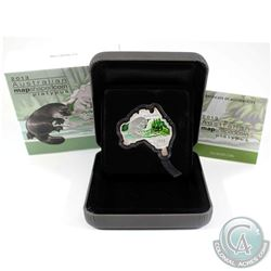 2013 Australia $1 Map Shaped - Platypus - Fine Silver Proof Coin (Tax Exempt)