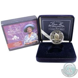 2000 United Kingdom 5-pound The Queen Mother Century Year Sterling Silver Coin. Please note the oute