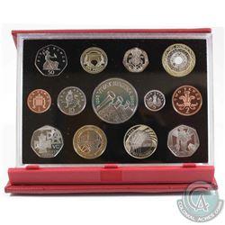 2006 United Kingdom 13-coin Proof Set Celebrating Isambard Kingdom Brunel & 150th Anniv. Of the Vict