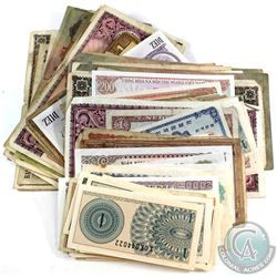 Large Estate Lot Mixed World Banknotes. 251pcs.