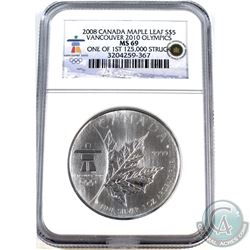 2008 Canada Maple leaf $5 Vancouver 2010 Olympics NGC Certified MS-69 (Tax Exempt)* One of the 1st 1