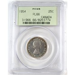 1954 Canada 25-cent PCGS Certified PL-66