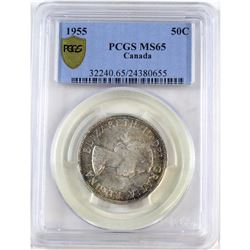50-cent 1955 PCGS Certified MS-65.