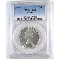 1954 Canada 50-cent PCGS Certified PL-66