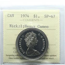 Nickel $1 1974 ICCS Certified SP-67 Heavy Cameo