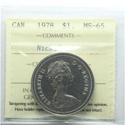 Nickel $1 1978 ICCS Certified MS-65