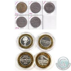 Estate lot of Casino Gaming tokens. Lot includes: 1x McCarran Slots .999 Fine Silver $10 Limited Edi