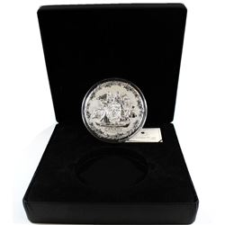 2007 $250 Early Canada Olympic Fine Silver Kilo (Tax Exempt). Please note coin is toned around the r