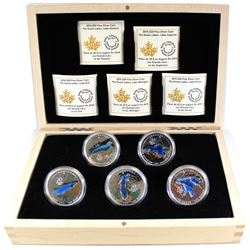 2014-2015 Canada $20 Great Lakes 5-coin Set in Deluxe Case (Tax Exempt)