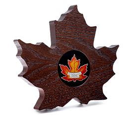 2016 $20 Canada's Colourful Maple Leaf Shaped Fine Silver Coin (Tax Exempt).