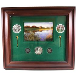 2004 Canadian Open Golf $5 and 10ct Coins in Display Frame. Please note frame contains some wear.