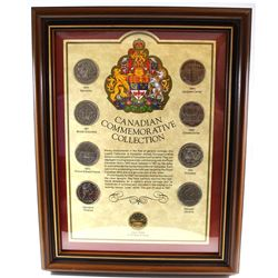 1970-1987 Canada Commemorative Dollar Collection in Frame. You will receive 1970, 1971, 1973, 1974,