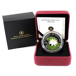 2010 Canada $20 Swarovski Crystal - Crystal Water Lily Fine Silver Coin (Tax Exempt).