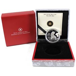 2010 Canada $15 Zodiac Year of the Tiger Fine Silver Coin (Tax Exempt).