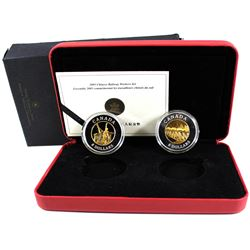 2005 Canada $8 Chinese Railway Workers Fine Silver 2-Coin Set (Tax Exempt).