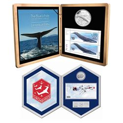 2006 Canada $5 Snowbirds Coin & Stamp set & 2010 Canada $10 Blue Whale Coin & Stamp set. 2pcs.