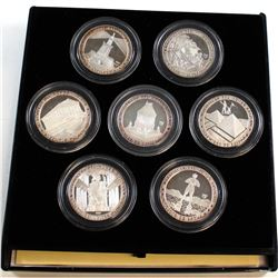 1997 Cuba 10 Pesos 'Die Sieben Weltwunder' 7 Wonders of the Ancient World Fine Silver Set (Tax Exemp