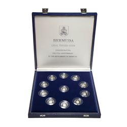1984 Bermuda 375th Anniversary of Settlement Sterling Silver Proof Coin Collection. You will receive