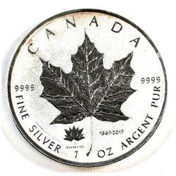 2017 Canada $1 Canada's 150th Privy 1oz Fine Silver Maple (Tax Exempt). Toned.