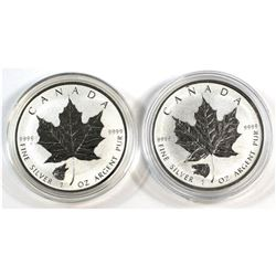 2016 Canada $5 Wolf & Grizzly Privy 1oz Fine Silver Maple Leaf (Tax Exempt).