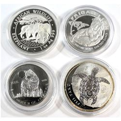 World Fine Silver Coin Collection (Tax Exempt). You will receive a 2006 Canada 1/2oz Wolf, 2012 Fiji