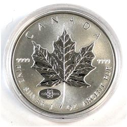 1908-1998 Anniversary Privy Mark 1oz. Silver Maple Leaf (TAX Exempt)