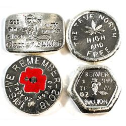 Beaver Bullion 1oz Fine Silver Collection (Tax Exempt). You will receive a Hand Poured Bar, Hexagon,