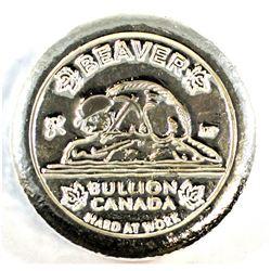 2019 Beaver Bullion 5oz .999 Silver Round (Tax Exempt).