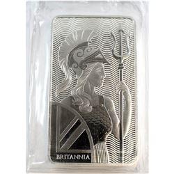 Royal Mint 10oz Fine Silver Bar with Britannia Design (Tax Exempt).