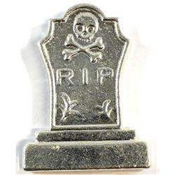 Scarce* Monarch Precious Metals 5oz RIP Tombstone Fine Silver Bar (Tax Exempt)