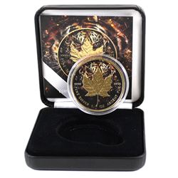"2018 Canada 1oz .9999 Fine Silver & 24k Gold Plated ""Work Like a Captain, Play like a Pirate"" Coin ("