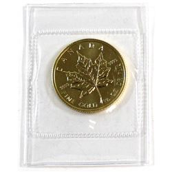 1989 Canada $10 1/4oz 9999 Fine Gold Maple Leaf in Original sealed pouch (Tax Exempt).